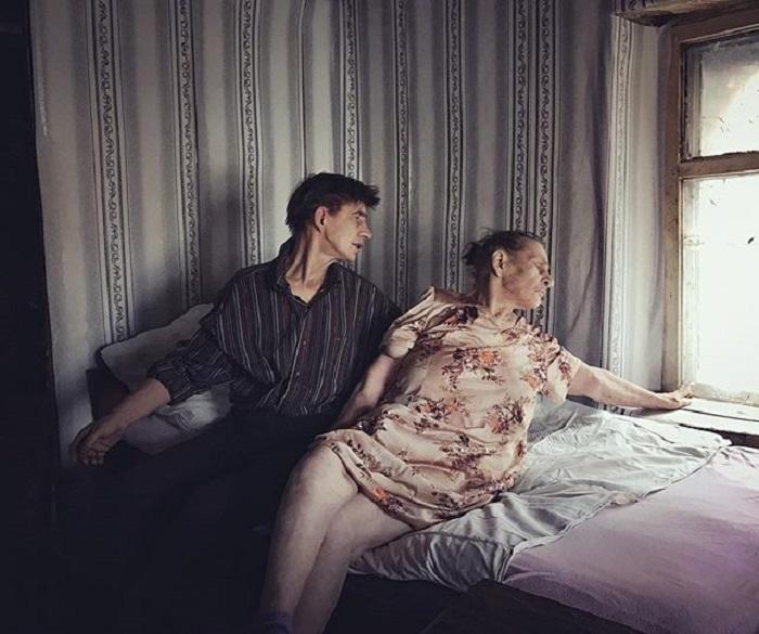 Патронажная служба по уходу за лежачими больными в городе Маркс Саратовской области, Россия.