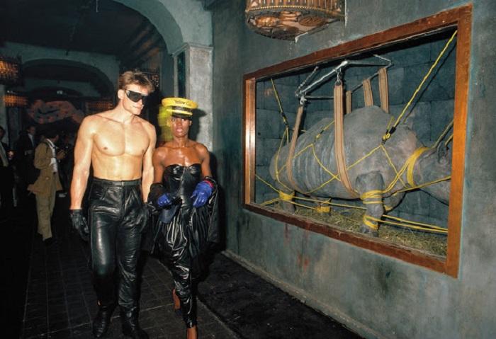 Дольф Лундгрен и Грейс Джонс, 1980-е годы.