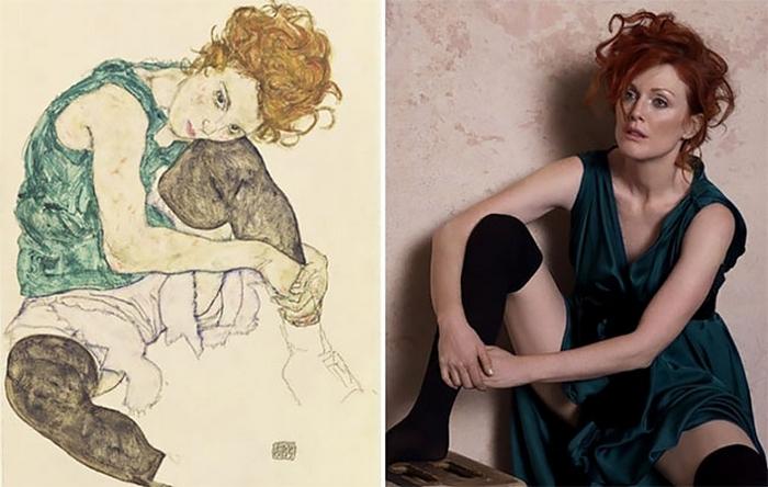Оригинальной моделью для картины Эгона Шиле была Адель Хермс (Adele Herms).