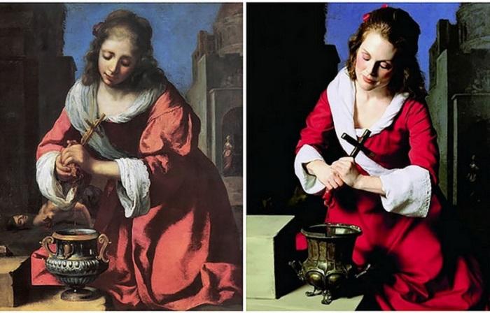 Джулианна Мур в образе героинь знаменитых картин.