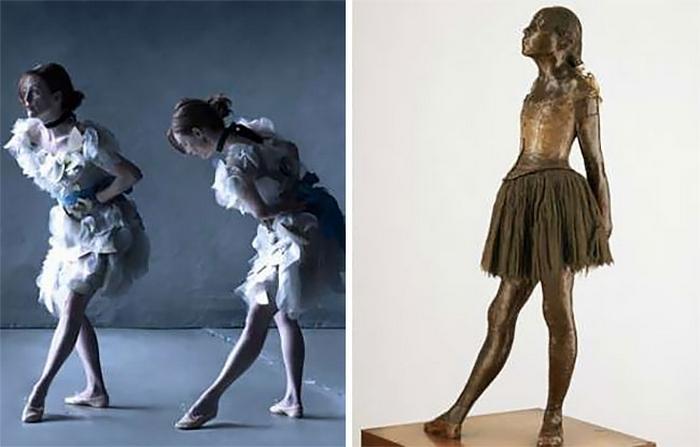 По мере ухудшения зрения, французский художник Эдгар Дега отдавал предпочтение скульптуре.