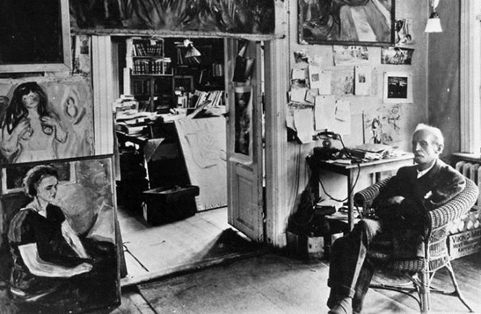 Студия норвежского живописца и первого представителя экспрессионизма.