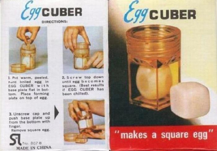 Egg Cuber превращает яйца обычной формы в квадратные.