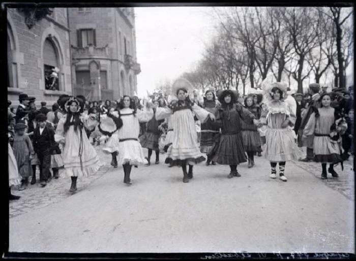 Карнавал в Сан-Себастьяне. Испания, 1908 год.