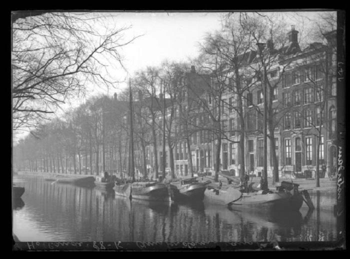 Амстердамский канал. Голландия, 1915 год.