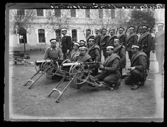 Подразделение болгарской армии, 1908 год.