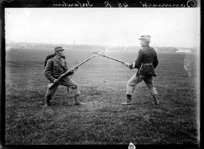 Штыковой бой, 1908 год.