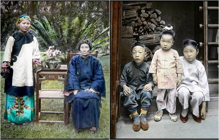 Колоризированные фотографии Китая в начале 20-го века.