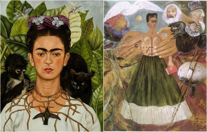 Сюрреалистические картины знаменитой Фриды Кало.
