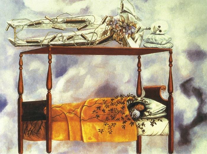 Устав от постоянных сильных болей в спине, тазу и ноге мексиканская художница стала чаще задумываться о своем исчезновении из жизни.