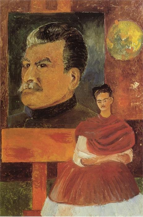 Одна из немногочисленных картин, которые культовая художница посвятила своим политическим взглядам.
