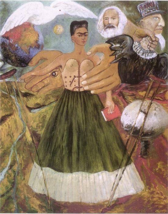 Картина выражает яркую симпатию мексиканской художницы к марксистской идеологии.
