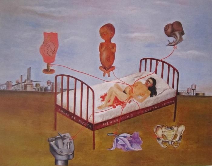 Фрида Кало – первая художница, которая обратилась к теме потери ребенка в своих работах.