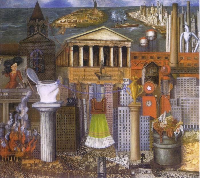 Иронический портрет американского капитализма, изображенный Фридой Кало.
