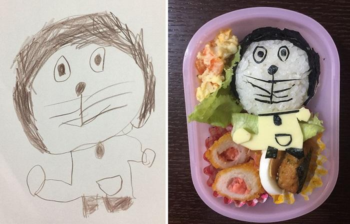 Уникальные обеды, созданные отцом для дочери, по мотивам ее рисунков.