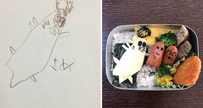 Ланч в коробке, приготовленный отцом дома, своими руками.