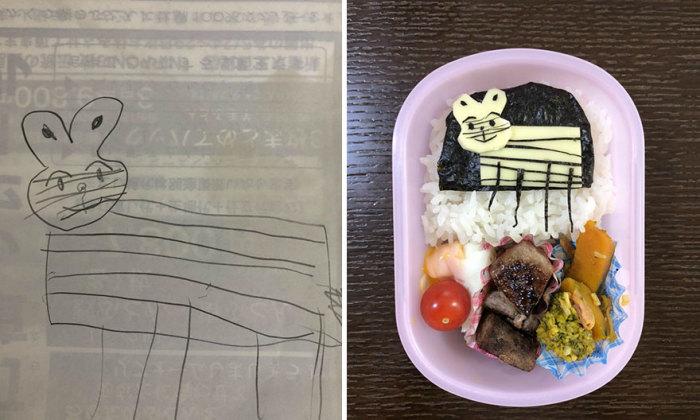 Такафуми Озеки старается накормить дочку качественной и здоровой пищей.
