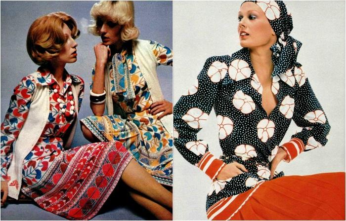 Гардероб модниц 70-х годов.