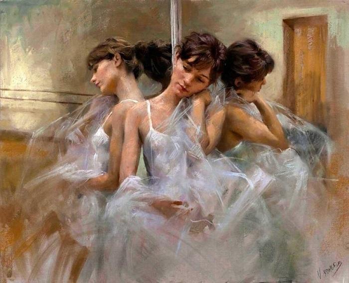 Прекрасный и чувственный образ балерины.