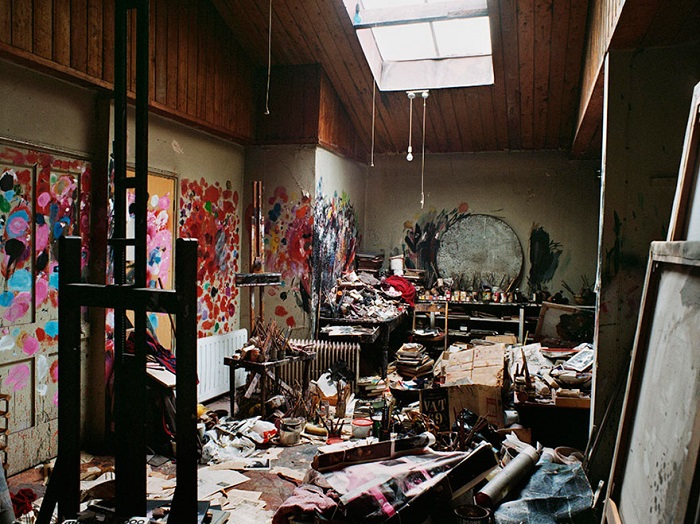 Студия английского художника-экспрессиониста, мастера фигуративной живописи.