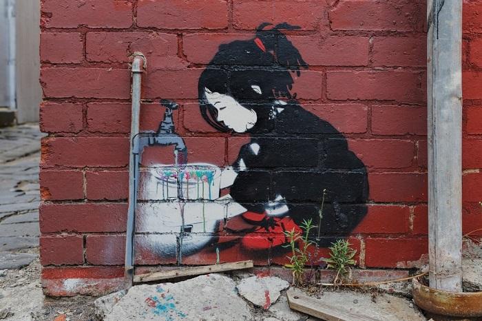 Остроумный стрит-арт в Мельбурн, Австралия.