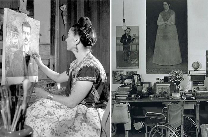 Студия мексиканской художницы, известной своими автопортретами.
