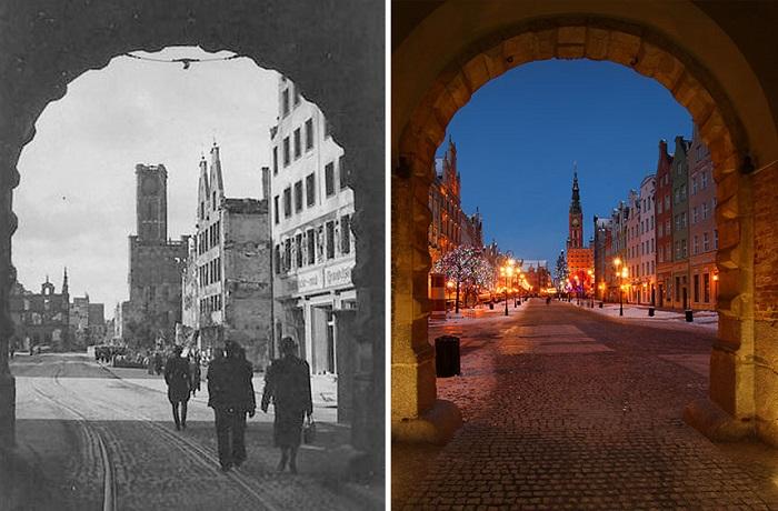 Восстановленные руины Гданьска.