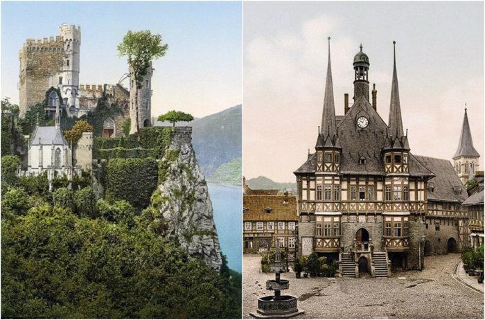 Редкие цветные фотографии Германии.