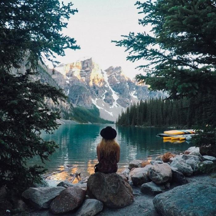 Озеро Emerald Lake, Канада.
