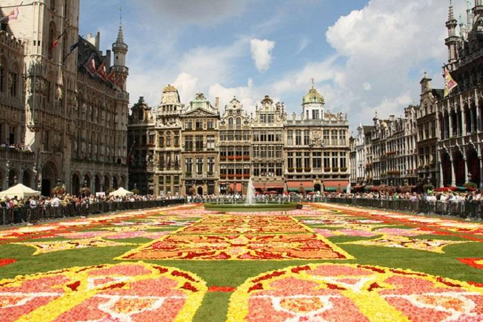 Сердце Брюсселя с эпохи средневековья.