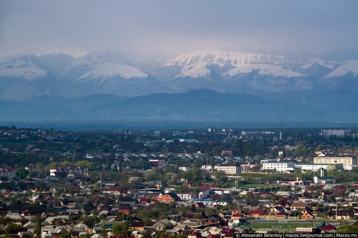 Основная часть Грозного состоит из частных домов.