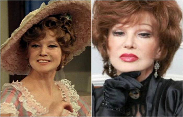 Яркая харизматичная актриса перевоплотилась в хозяйку шляпного салона - мадам Бокардон.
