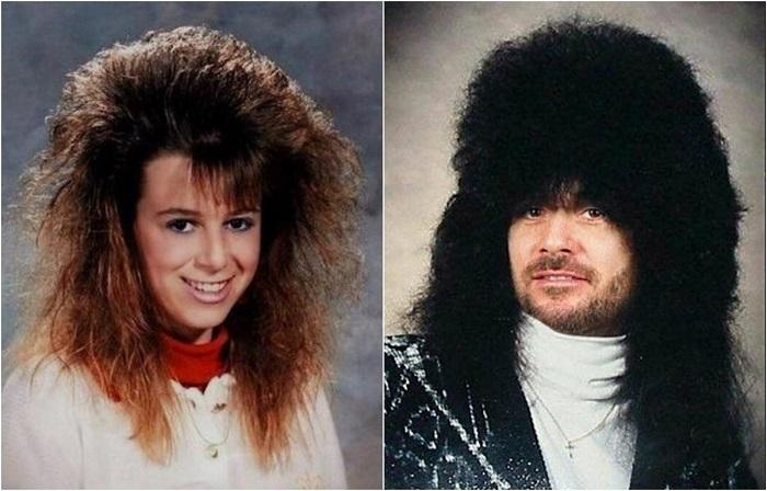 Нелепые и странные прически из 1980-х из годов.
