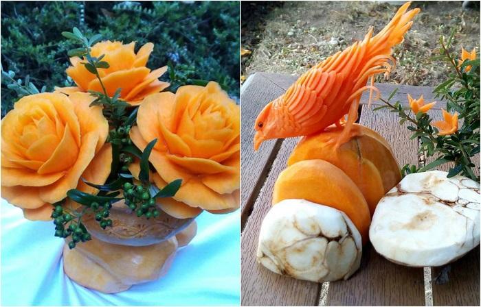 Праздничный декор из тыквы.