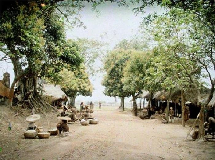 Сельский рынок в пригороде Ханоя.