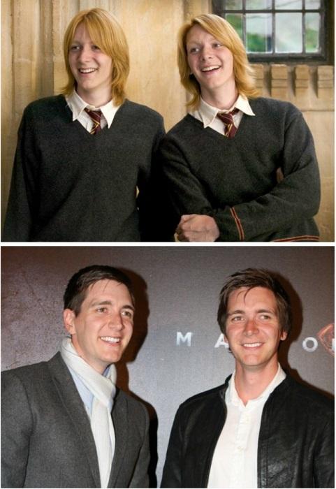 Британские актёры-близнецы.