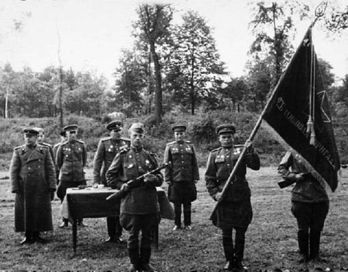 Курсанты военного училища, 1944 год.