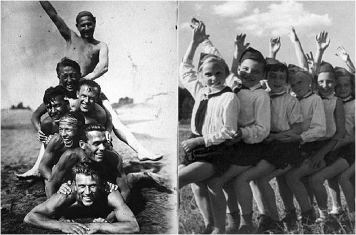 Семейные фотографии из альбомов советских людей.