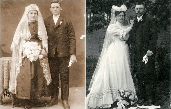 Коллекция свадебных фотографий конца XIX века.