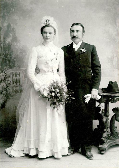 Викторианский стиль в свадебной одежде.