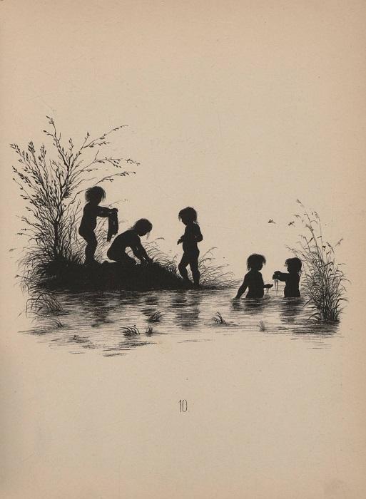 Летнее развлечение детей на водоеме.