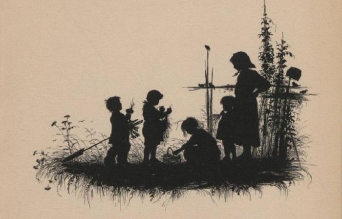 Детские рисунки талантливой художницы-силуэтиста Елизаветы Меркурьевны Бем.