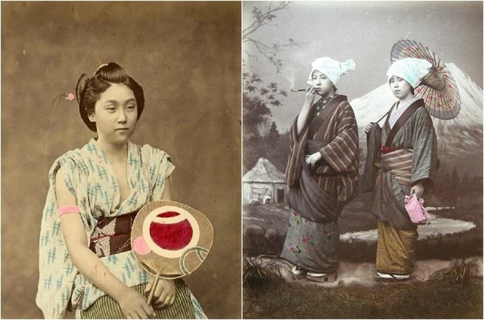 Цветные ретро-фотографии Японии 19 века.