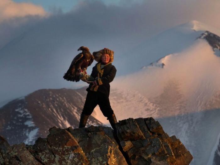 Хранитель традиции казахской орлиной охоты.