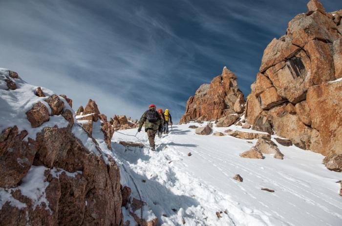 Один из альпинистских маршрутов Казахстана.
