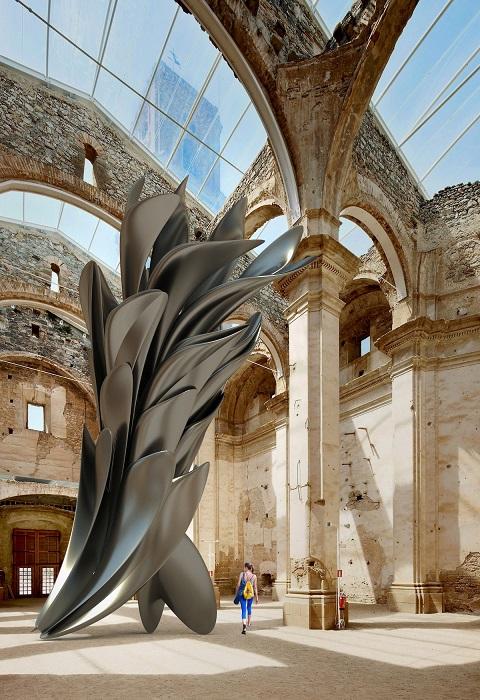 Все цифровые работы молодого скульптора впечатляют своими необычными формами и огромными размерами.