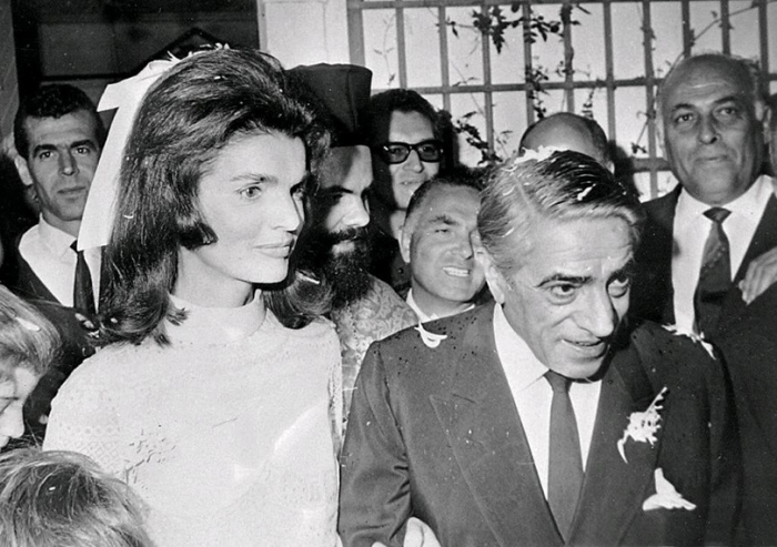 Приглашенные гости на свадьбе Жаклин Кеннеди и Аристотеля Онассиса.