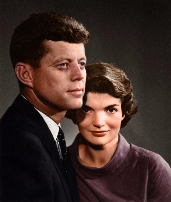 Портрет четы Кеннеди, снятый профессиональным фотографом Юсуфом Каршем (Yousuf Karsh).
