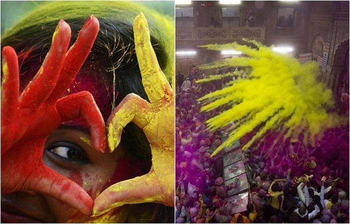 Самый цветной праздник весны, который отмечают в Индии.