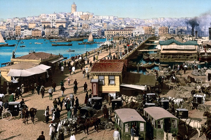 Цветные открытки столицы Османской империи.
